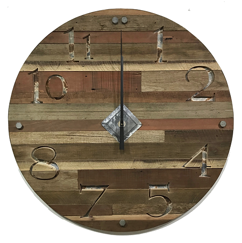Large Rustic Hardwood Clock GIHS0026