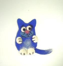 Синий кот. Валяние