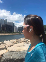 Shuai Polarized Sunglasses (White_Pink).