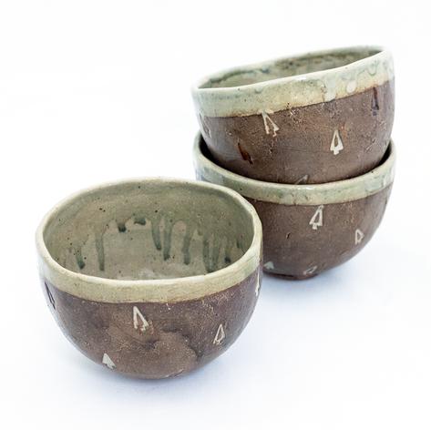 Pale Iron Tree Latte Bowls
