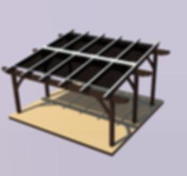 Solar Pergola Energy Panel Offroof Innovation