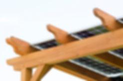 Solar Panels on a Pergola