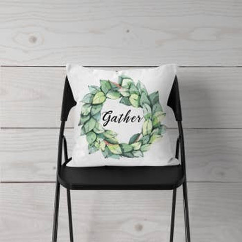 Magnolia Gather Wreath Pillow Cover