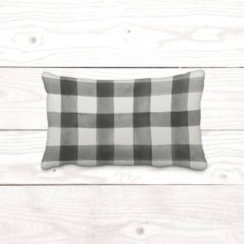 Grey + Off-White Watercolor Accent Pillow Cover