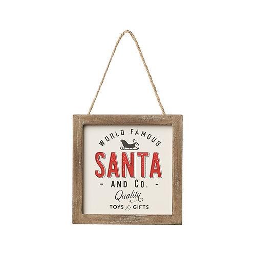 Santa + Co Ornament