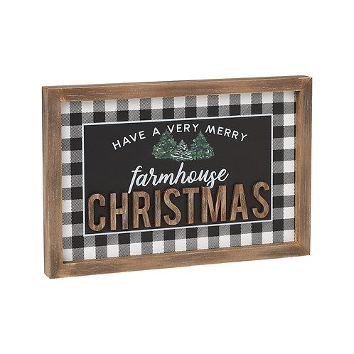 Farmhouse Christmas Framed Sign