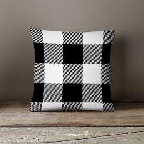 Black + White Buffalo Check Pillow Cover