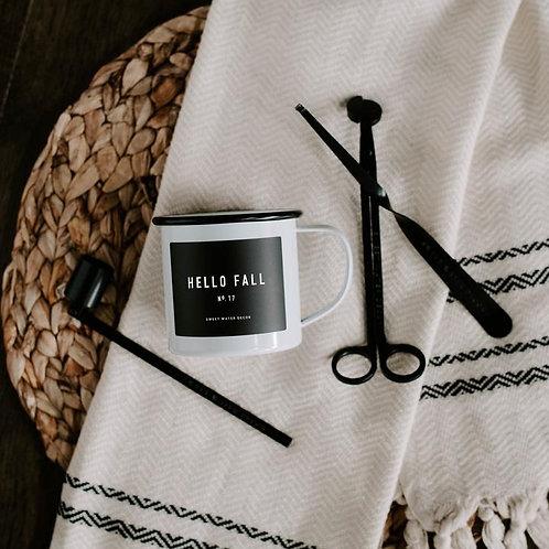Hello Fall Soy Mug Candle