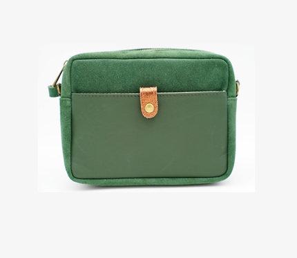 CRAZY LOU, Tina sac trotteur cuir, vert