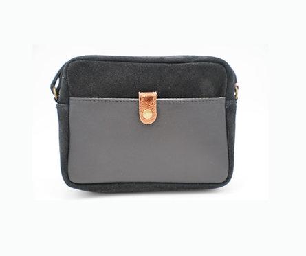 CRAZY LOU, Tina sac trotteur cuir, noir