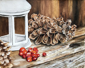Pine Cone and Berries