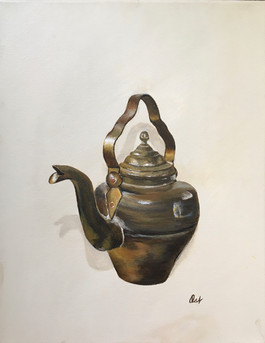 Little Brass Tea Pot
