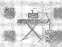 Tegning fra Rune