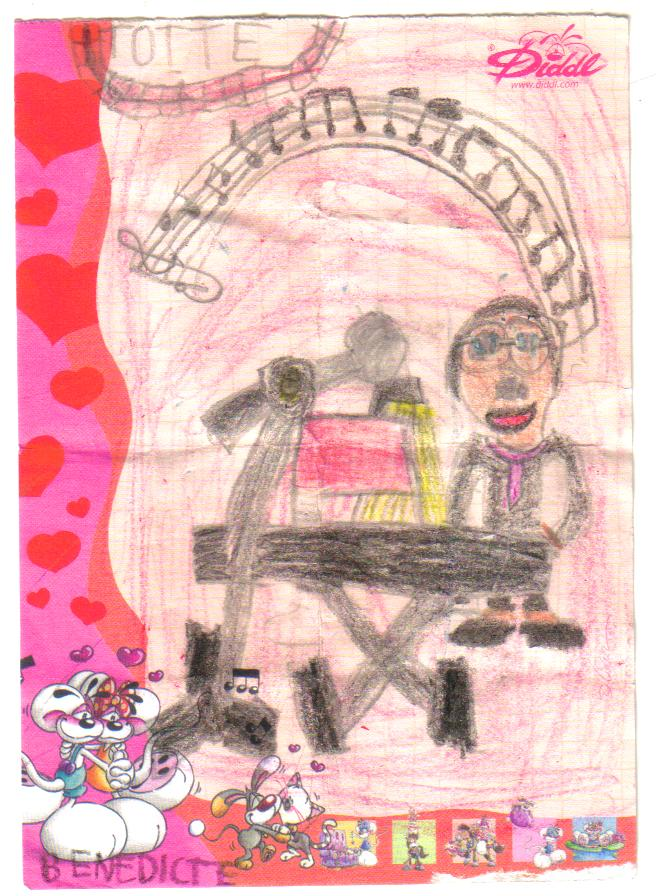 Tegning fra Benedicte
