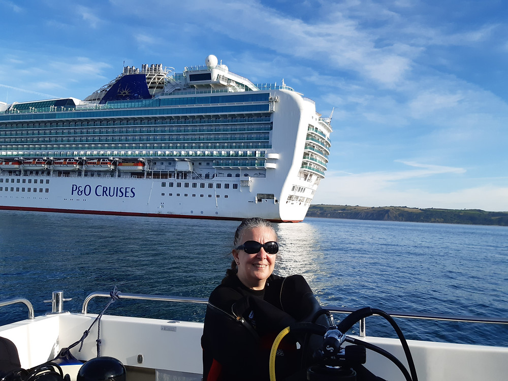 Cruise ship in Weymouth Bay