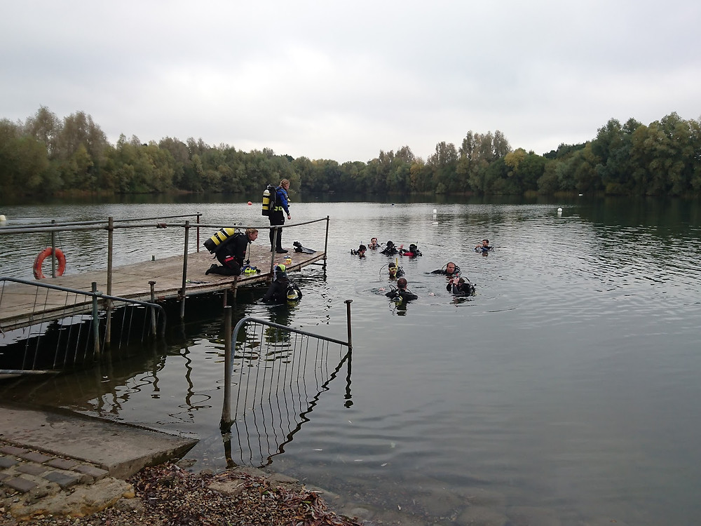 Easy diving at Wraysbury.