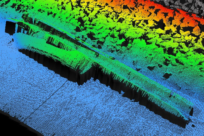 3D sonar scan of the Bombardon