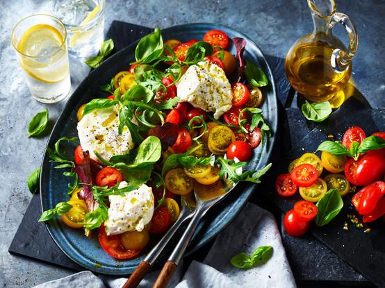 Fresh Burrata and Heritage Tomato Salad_