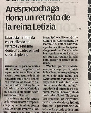 Recorte en periodico local sobre entrega