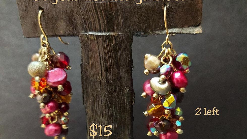 Freshwater Pearl and Bead earrings