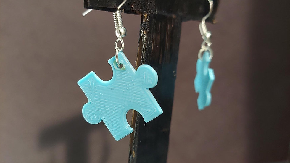 Autism Awareness Puzzle Piece Earring