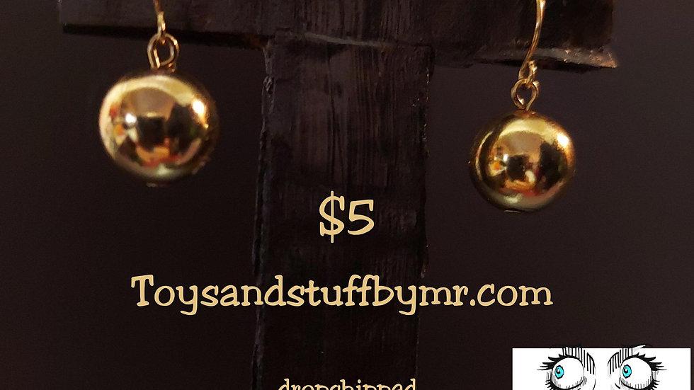Gold tone Balls earrings