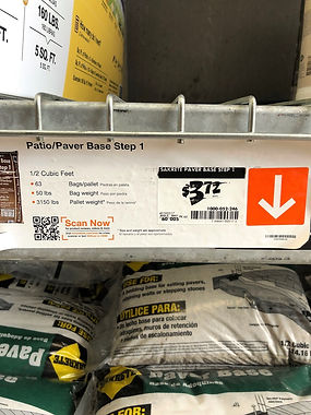 Paver Base @ Home Depot