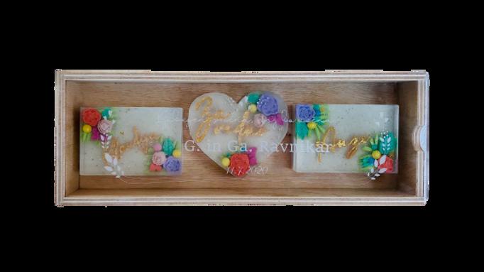 Poročni paket v lesenem zaboju