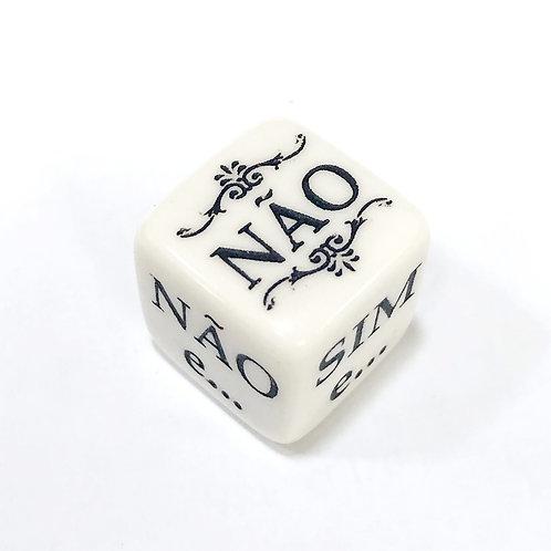 DADO ORACULAR BRANCO - RPG