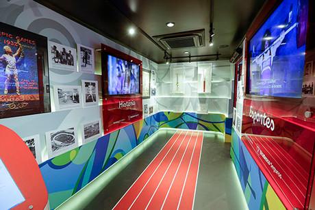 Museu Itinerante - Se Prepara Brasil - o caminho do esporte até o Rio de Janeiro com a Bradesco Segu
