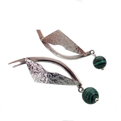 Vela con perlas de Verde Malaquita