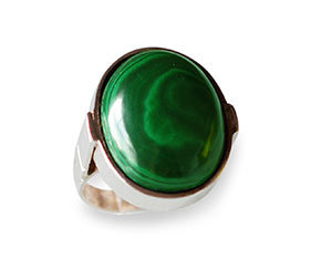 Verde malaquita oval