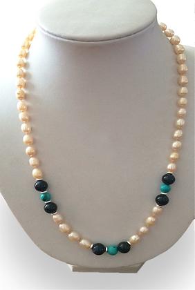 Perlas barrocas con Turquesa y Piedra de la Noche