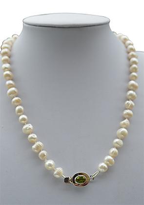 Collar Perlas Barrocas Blancas