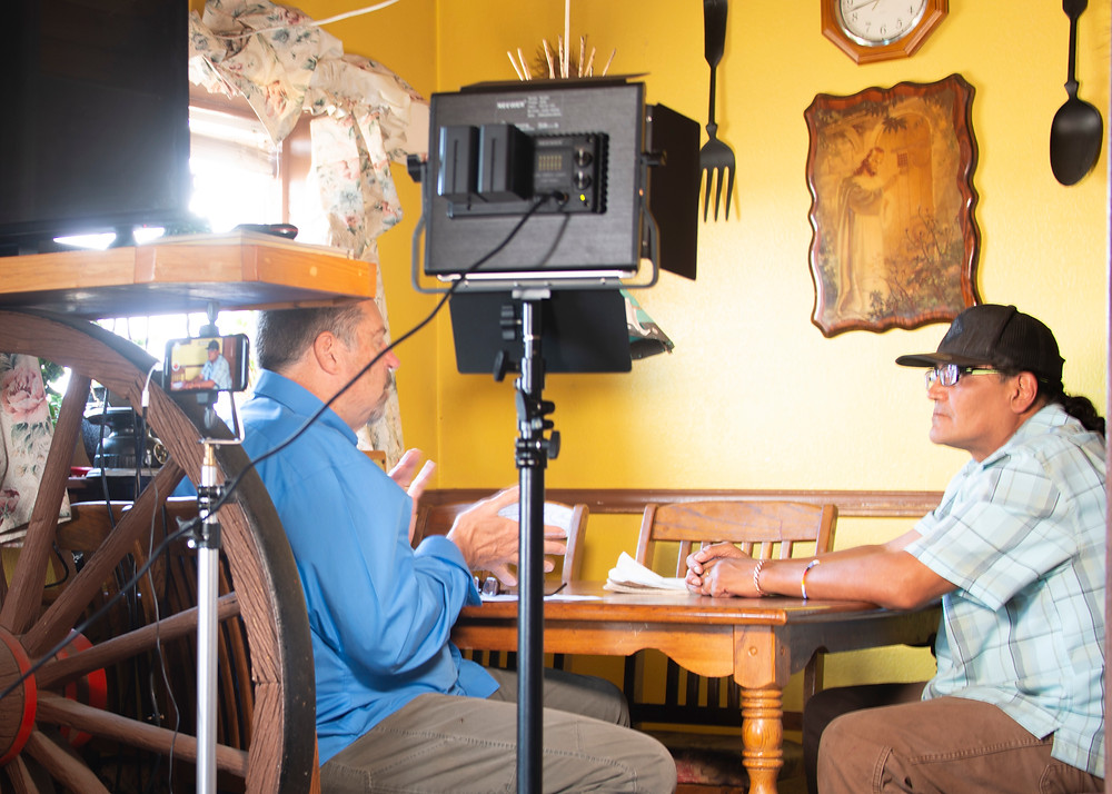 Interviewing Peter for the Descendants Project at his kitchen table in Browning, MT.