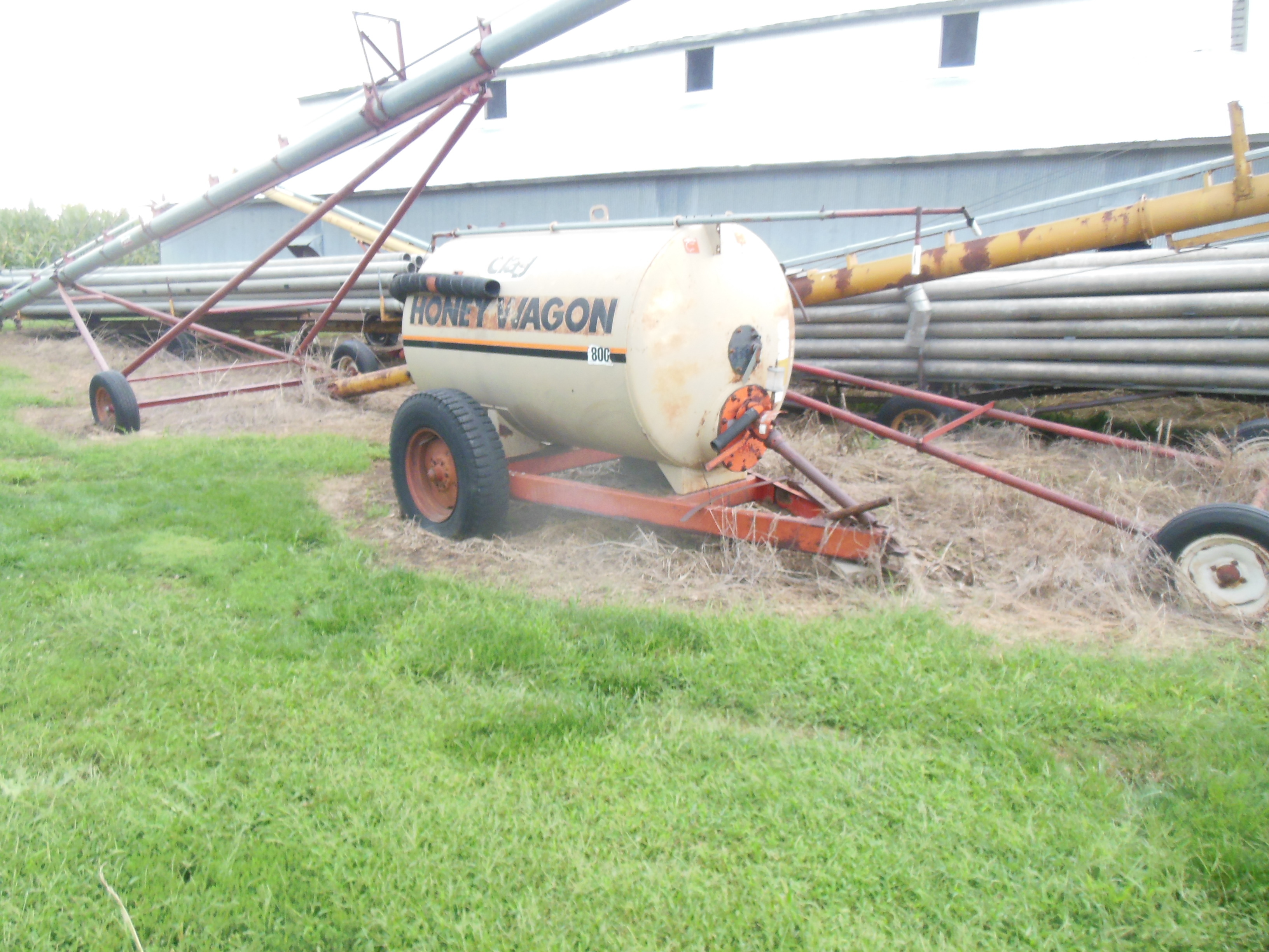 Clark auger and honey wagon