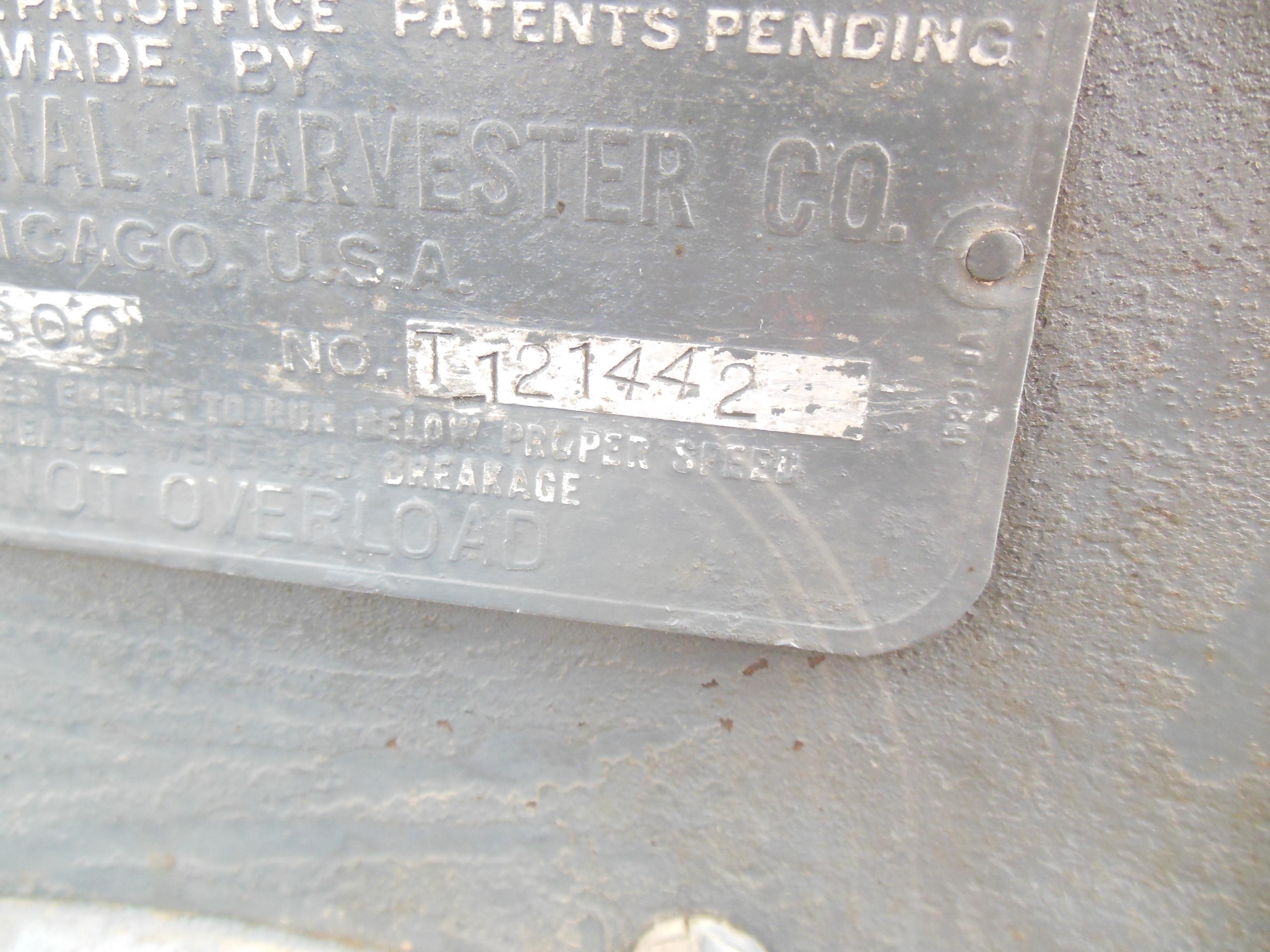Clark-Serial number for Farmall Regular.