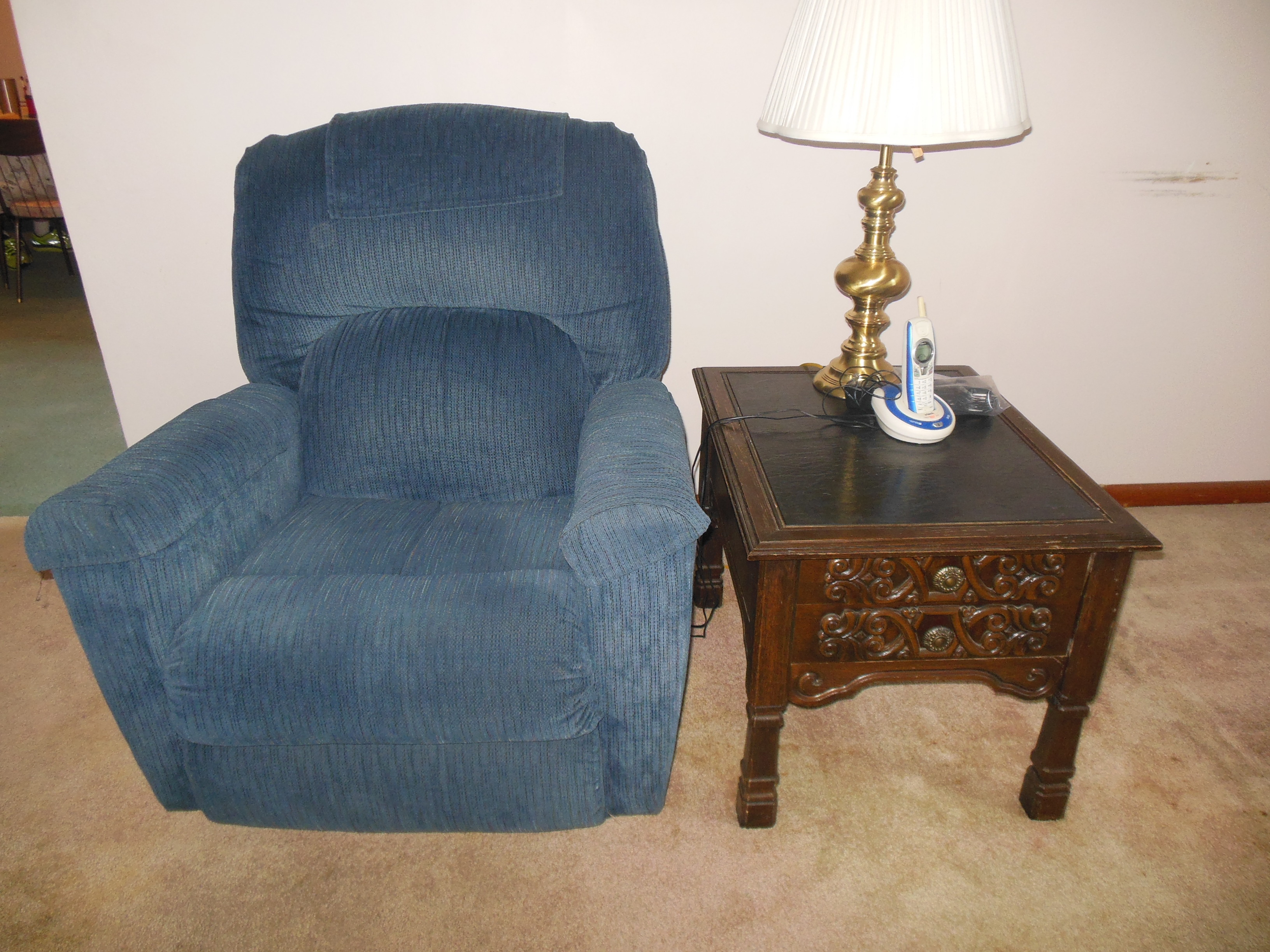 recliner and table