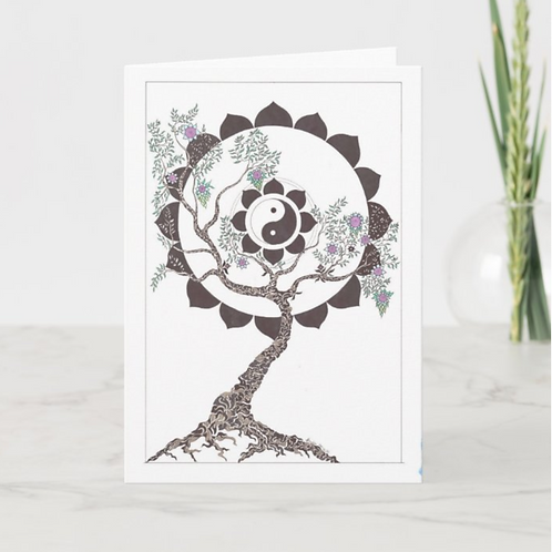 Tree of Balance Greeting Card