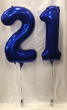 2 Numbered Foil Balloons