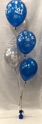 5 Balloon 21st Bouquet