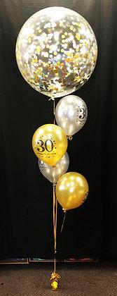 2-3ft 30th Confetti Balloon Bouquet