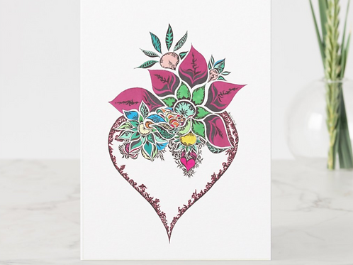 Opening the Heart Greeting Card
