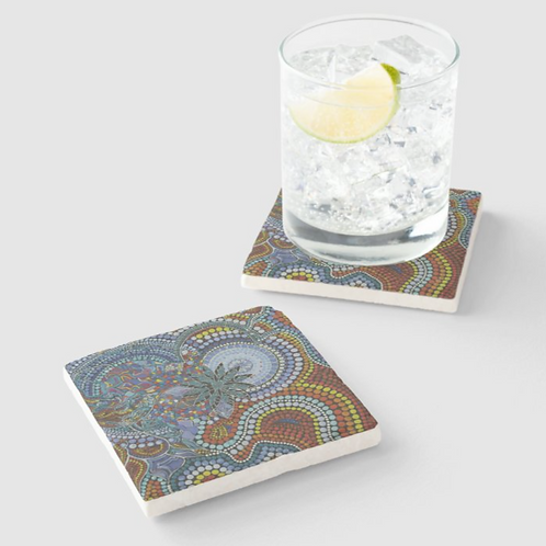 Cosmic Creation Sandstone Coaster set