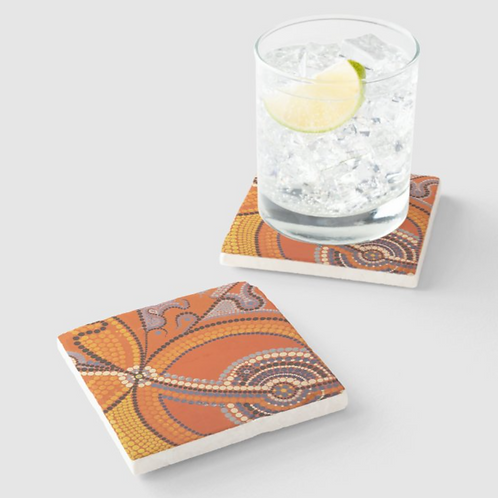 Water Holes Sandstone Coaster set