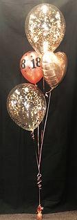 Confetti 18th Bouquet Helium Balloon