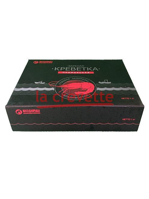 Креветки гребенчатые, варёно-мороженые, размер: 32/40. Упаковка: 1 кг.
