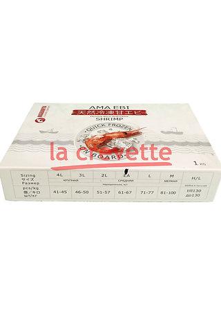 Креветки сыромороженные, судовой заморозки, без глазури, размер: 61/67 (LA)