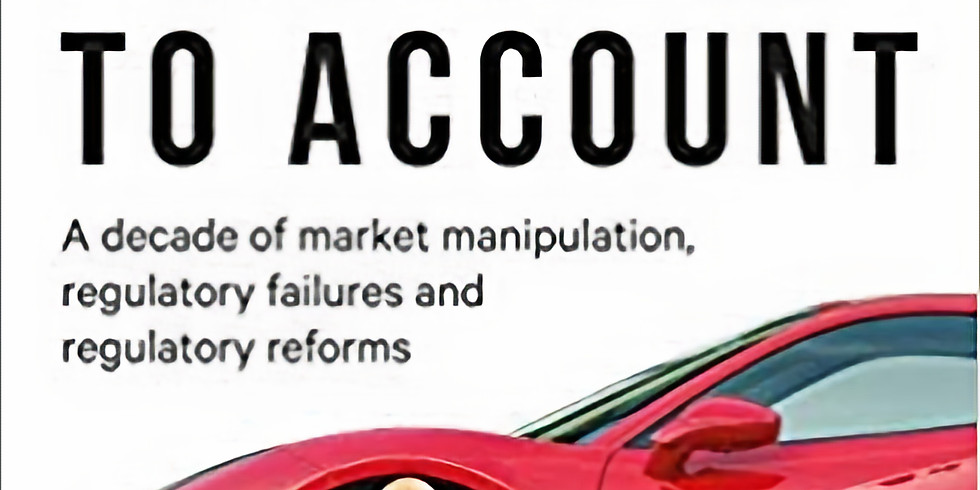 Holding Bankers to Account: A Book Talk with the Author
