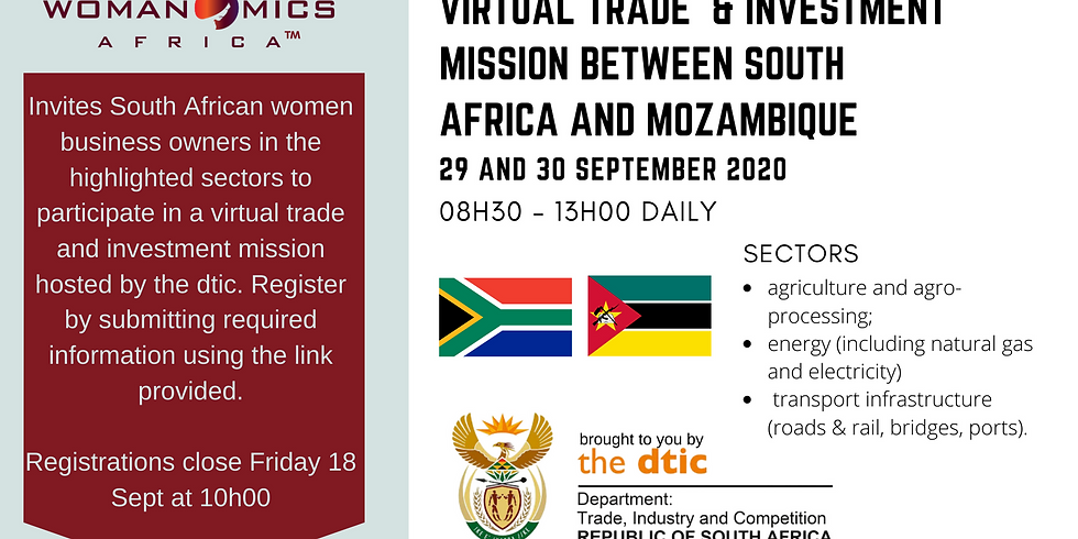 Virtual Trade & Investment Mission between South Africa and Mozambique